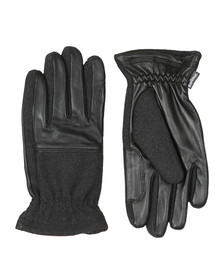Barbour Lifestyle Mens Black Rugged Melton Mix Glove
