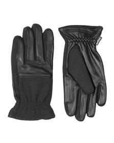Barbour Lifestyle Mens Black Rugged Melton Mix Glove