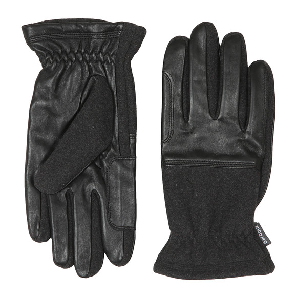 Barbour Lifestyle Mens Black Rugged Melton Mix Glove main image