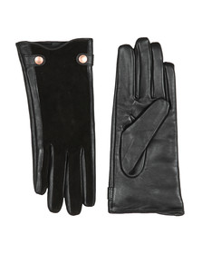 Barbour International Womens Black Aubern Leather Gloves