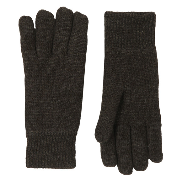 Barbour Lifestyle Mens Green Carlton Knitted Glove