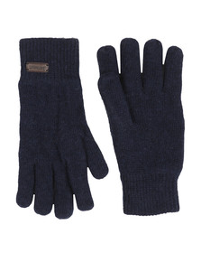 Barbour Lifestyle Mens Blue Carlton Knitted Glove