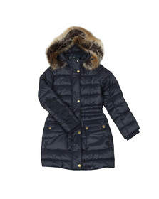 Barbour Lifestyle Girls Blue Redpole Quilted Jacket