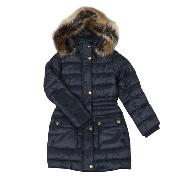 Barbour Lifestyle Girls Blue Redpole Quilted Jacket main image