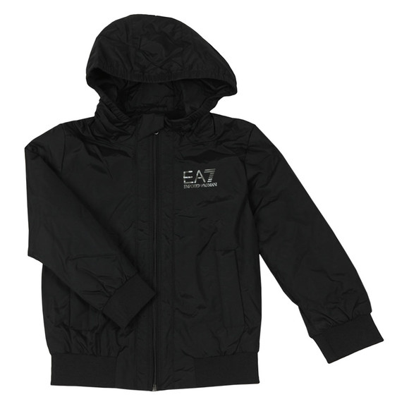 EA7 Emporio Armani Boys Black Hooded Bomber