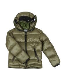C.P. Company Undersixteen Boys Green Split Goggle Puffer Jacket
