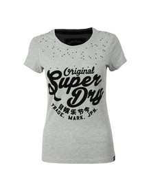 Superdry Womens Grey Embellished Night Entry Tee