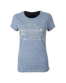 Superdry Womens Blue Vintage Logo Sport Entry Tee