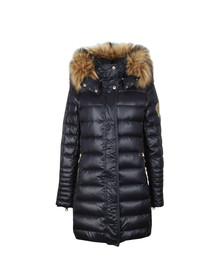 Holland Cooper Womens Blue The St Moritz 2 Long Padded Coat