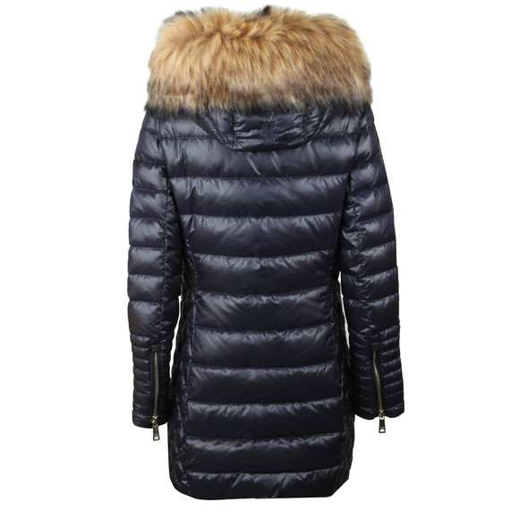 Holland Cooper Womens Blue The St Moritz 2 Long Padded Coat main image