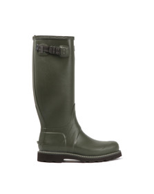 Hunter Mens Green Balmoral Wide Fit Wellington Boot