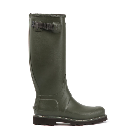 Hunter Mens Green Balmoral Wide Fit Wellington Boot main image