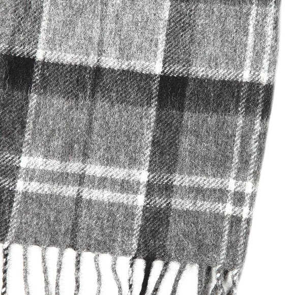Barbour Lifestyle Mens Black Tartan Lambswool and Cashmere Scarf main image
