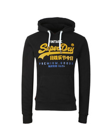 Superdry Mens Black Tri Infill Hoody