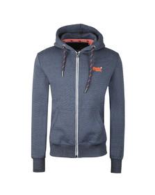 Superdry Mens Blue Orange Label Zip Hood
