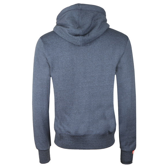 Superdry Mens Blue Orange Label Zip Hood main image