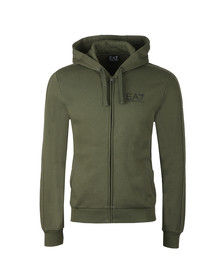 EA7 Emporio Armani Mens Green Small Logo Full zip Hoody