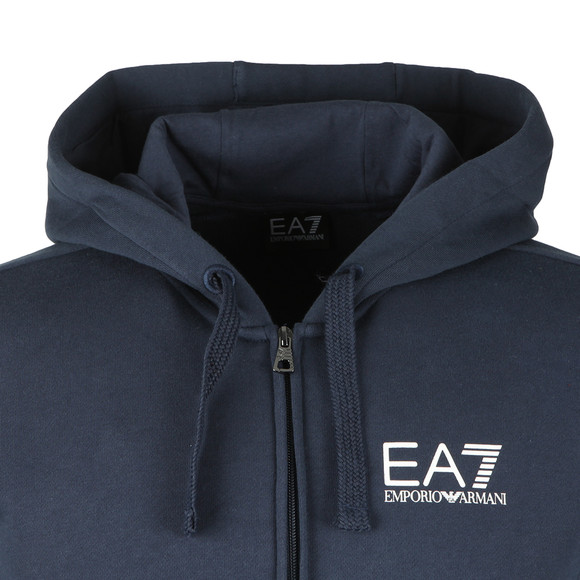 EA7 Emporio Armani Mens Blue Small Logo Full zip Hoody main image