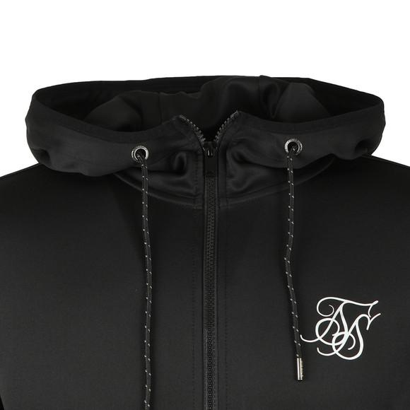 Sik Silk Mens Black Agility Zip Through Hoodie main image