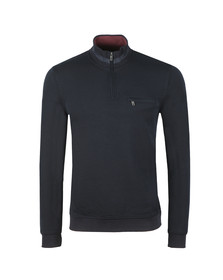 Ted Baker Mens Blue Leevit Half Zip Funnel Neck Sweat