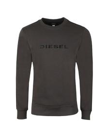 Diesel Mens Grey Willy Crew Sweatshirt