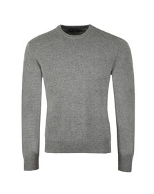 Hackett Mens Grey Lambswool Crew Jumper