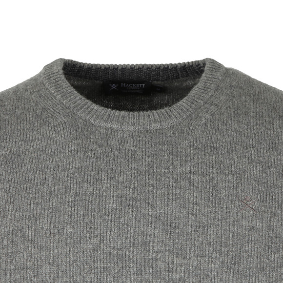 Hackett Mens Grey Lambswool Crew Jumper main image