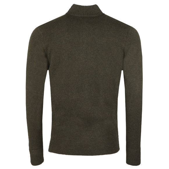 Ben Sherman Mens Green 1/4  Zip Funnel Neck Jumper main image