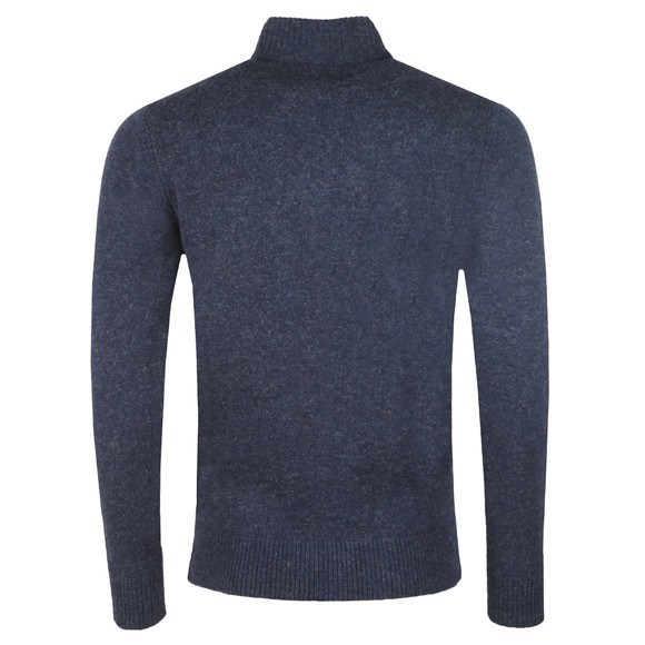 Ben Sherman Mens Blue 1/4  Zip Funnel Neck Jumper main image