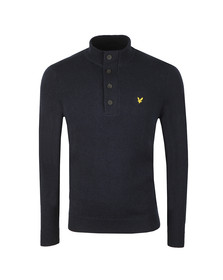 Lyle and Scott Mens Blue 1/4 Zip Jumper