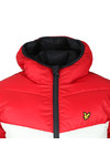 Lyle and Scott Mens Blue Colour Block Puffa Jacket