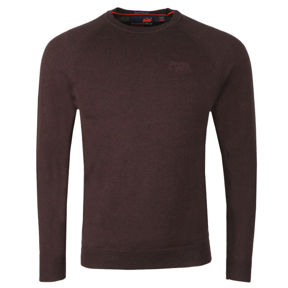 Superdry Mens Purple Orange Label Cotton Crew Jumper main image