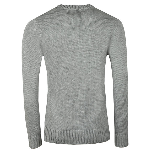 Luke Mens Grey Hortons Court Crew Neck Jumper main image