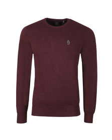 Luke Mens Purple Stevie Crew Neck Jumper