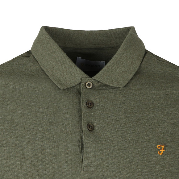 Farah Mens Green Blaney Polo Shirt main image