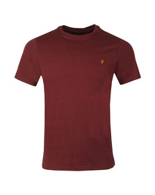 Farah Mens Red Denny Crew T-Shirt
