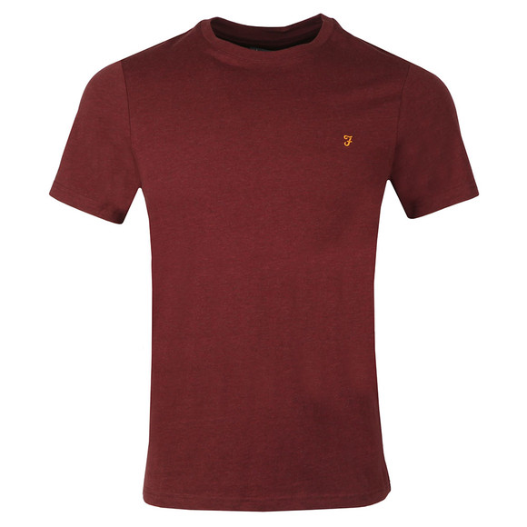 Farah Mens Red Denny Crew T-Shirt main image
