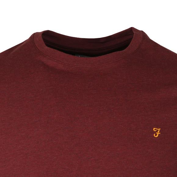 Farah Mens Red Denny Crew T-Shirt main image