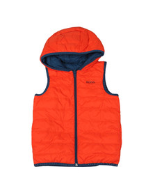 BOSS Boys Orange J26360 Reversible Gilet