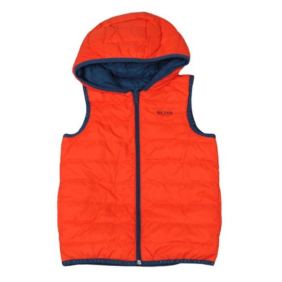 BOSS Boys Orange J26360 Reversible Gilet