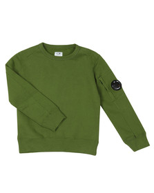 C.P. Company Undersixteen Boys Green Viewfinder Sweashirt