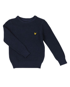 Lyle And Scott Junior Boys Blue Knitted Jumper