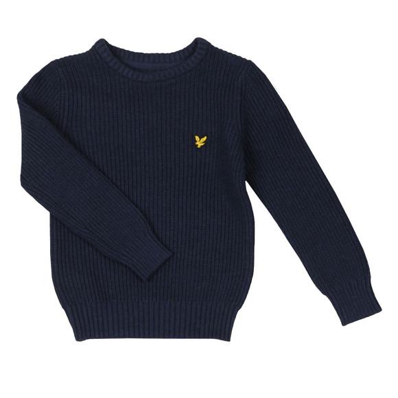 Lyle And Scott Junior Boys Blue Knitted Jumper  main image