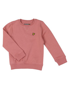 Lyle And Scott Junior Boys Pink Classic Crew Sweatshirt