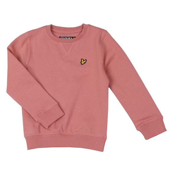 Lyle And Scott Junior Boys Pink Classic Crew Sweatshirt main image