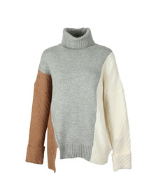 French Connection Womens Grey Viola Knit High Neck Jumper