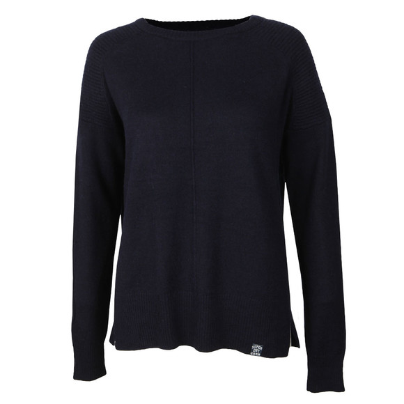 Superdry Womens Blue Bria Raglan Knit main image