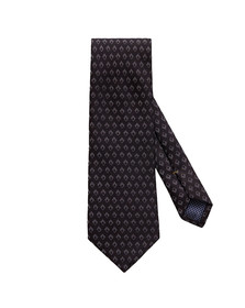 Eton Mens Black Small Diamond Pattern Tie