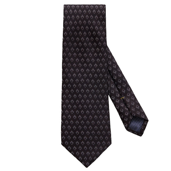 Eton Mens Black Small Diamond Pattern Tie main image