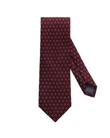 Eton Mens Red Small Diamond Pattern Tie